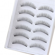 BTArtbox 10 Pair Long Black False Eyelashes Eye Lashes Makeup-99#