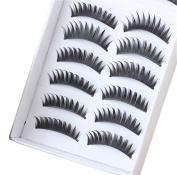 BTArtbox 10 Pair Long Black False Eyelashes Eye Lashes Makeup-011