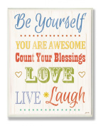The Kids Room By Stupell Be Yourself Typography Designer Prints And Wall Art For Kids Room