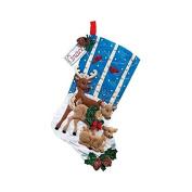 Bucilla 46cm Christmas Stocking Felt Applique Kit, Deer Family