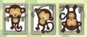 Little Mod Pod Monkeys - Nursery Art Prints (5x7,