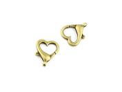 Qty 10 Pieces B64786 Heart Clasps Ancient Antique Bronze Jewellery Making Charms Findings Bulk Retro Accessoires Lots Vintage for Bracelet Necklace
