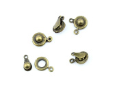 Qty 20 Pieces B33045 Snaps Clasps Ancient Antique Bronze Fashion Jewellery Making Crafting Charms Findings Bulk for Bracelet Necklace Pendant