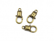 Qty 40 Pieces B26904 Square Lobster Clasps Ancient Antique Bronze Jewellery Making Charms Findings Bulk Retro Accessoires Lots Vintage for Bracelet Necklace