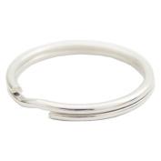 "Bluemoona 100 Pcs - 25mm 1"" Round Edged Split Key Chain Ring Connector Keychain Keyring"
