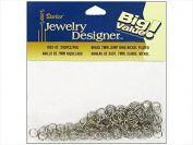Darice & Catan Floral DAR1881.10 Jump Ring 7 Mm. Nickel Plated Brass, 200 Piece - Pack Of 3