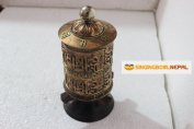 22cm Very Artistic Table Top Tibetan Buddhist Om Mani Padme Hum Prayer Wheel Hand Crafted in Nepal