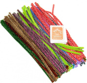 "100 Tiger Tail Pipe Cleaners 12"" X 6mm"