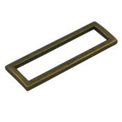 "Bluemoona 20 Pcs - 2"" 50mm Metal Rectangle Rings Webbing Buckles for Straps, Bags, Purses, Belting, Ribbon"