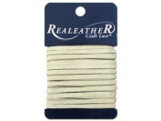 Silver Creek Leather SLC00092 Silver Creek Suede Lace Card, Ivory, 0.3cm . x 8 yd.