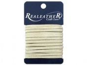 Silver Creek Leather SLC00092 Silver Creek Suede Lace Card, Ivory, 0.3cm . x 8 yd.