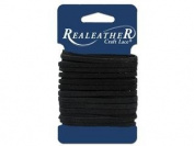 Silver Creek Leather SLC00062 Silver Creek Suede Lace Card, Black, 0.3cm . x 8 yd.