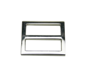 Tianbang Silvery 2.5cm Inside Length Rectangular Buckle with Fixed Bar for Loose Ring Pack 15