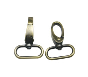 Tianbang Antique Bronze 2.5cm Inside Diameter Oval Ring Lobster Clasp Claw Swivel for Strap Pack of 10