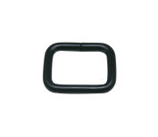 Tianbang Black 2cm Inside Length Rectangular Buckle for Loose Ring Pack 15