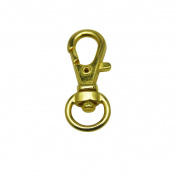Tianbang Golden 0.9cm Inside Diameter Oval Ring Lobster Clasp Claw Swivel for Strap Pack of 20