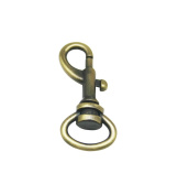 Tianbang Bronze 1.3cm Inside Diameter Oval Ring Lobster Clasp Claw Swivel for Strap Pack of 15