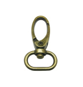 Tianbang Bronze 2cm Inside Diameter Oval Ring Lobster Clasp Claw Swivel for Strap Pack of 10