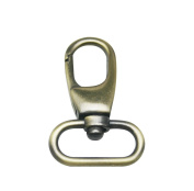 Tianbang Antique Bronze 2.5cm Inside Diameter Oval Ring Lobster Clasp Claw for Strap Pack of 6