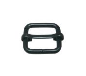 Tianbang Black 2cm Inside Length Rectangular Buckle with Sliding Bar for Loose Ring Pack 15
