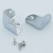 "Bluemoona 50 Pcs - 7/8"" 22MM Triangle Wooden Box Case Edge Corners Protectors Bracket with Screw"