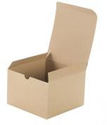 Premier Retail Packaging 10 Count Kraft Pinstripe Gift Box, 6 x 15cm x 10cm