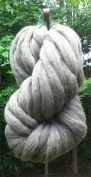 0.5kg Grey Wool Top Roving Fibre Spinning, Felting Crafts USA