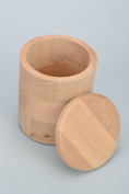 Handmade round ash wood box with lid craft blank for decoupage or painting