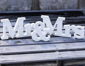 Aimeart Wooden Letters MR & MRS Wedding Photo Booth Prop Party Room Decoration