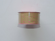 CraftSmart 100% Polyester 3.8cm . x 2.7m Decorative Psychedelic Pattern Ribbon - Great for Any Occasion!