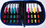 Crochet Hook Set with Ergonomic Crochet Hooks for Ultimate Comfort-Crochet for Longer with No Hand Pain! Crochet Kit with Sturdy Case, 9 Crochet Needles & 22 Accessories to Stay Organised! Ideal Gift for Beginners and Experts!
