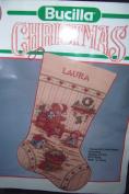 Country Christmas Stocking Cross Stitch Kit