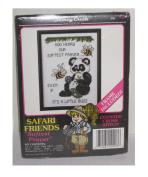 Safari Friends Counted Cross Stitch Kit - Softest Prayer