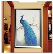 5D DIY Diamond Painting Cross Stitch Peacock Kit Animal Set Embroidery Rhinestone Round Crystal Home Decor Pasted