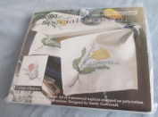 Stamped Cross Stitch Tulip Napkin Kit 64705