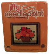 Basket Full of Marigolds Needlepoint Kit