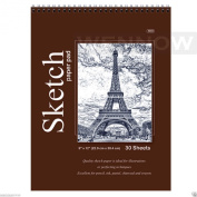 Wennow Quality Sketch Paper Book Pad, 23cm x 30cm , Top Bound Each 30 Sheets