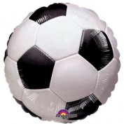 Championship Soccer Football Shaped 46cm Foil Helium Balloon