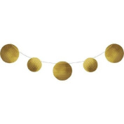 Pack of 6 Gold Circles Embossed Foil Party Banners 3.4m