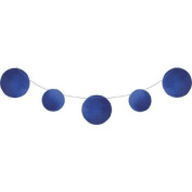Pack of 6 Blue Circles Embossed Foil Party Banners 3.4m