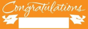 Pack of 6 Sunkissed Orange and White Giant Graduation Party Banners 1.5m