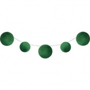 Pack of 6 Green Circles Embossed Foil Party Banners 3.4m