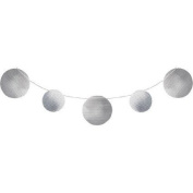 Pack of 6 Silver Circles Embossed Foil Party Banners 3.4m