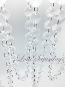 LolaSaturdays 9.1m Acrylic Crystal Garland Clear 18mm