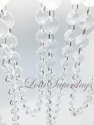 LolaSaturdays 9.1m Acrylic Crystal Garland Clear 18mm