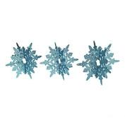 Blue Glitter Snowflakes Centrepiece