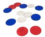 Red Silver Blue XLarge 2.5cm Paillettes Confetti