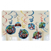 Avengers Assemble Party Hanging Swirl Decorations x 12