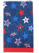 Patriotic Red, White and Blue Stars Plastic Tablecover