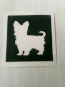 12 x Yorkshie terrier dog stencils for etching on glass gift present glassware hobby craft Yorkie